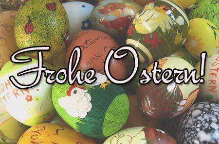 Frohe Ostern Glückwunsch
