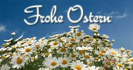 Frohe Ostern mit Blumen wünschen