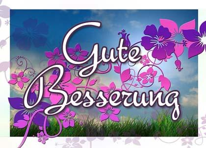 Mit Blumen gute Besserung wünschen