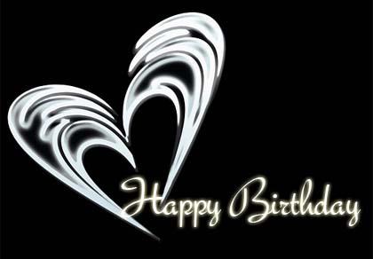 Schwarzweiß Glückwunsch Bild zum Geburtstag