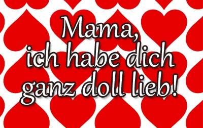 Ich hab dich Lieb Grüße zum Muttertag