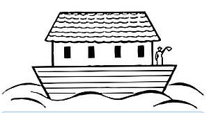 Die Arche Noah wird ebenfalls häufig als Symbole der katholischen Kirche und damit auch im Zusammenhang mit der Kommunion verwendet. Dabei soll die Arche als Schiff die Kirche darstellen, die die Menschen, die hier durch die Tiere symbolisiert werden, sicher durch die Sintflut bringt.