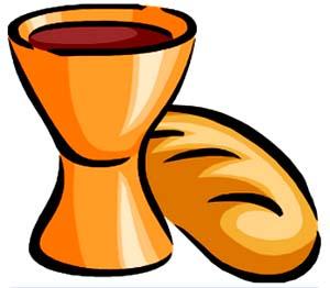 Der Kelch mit Wein und das Brot symbolisieren den Laib und das Blut Christi. Sie sind ein typisches Symbol der heiligen Kommunion und Teil der Zeremonie selbst.