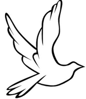 Die weiße Taube repräsentiert den heiligen Geist und ist zudem ein Zeichen des Friendens.
