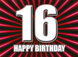 16. Geburtstag Gl�ckw�nsche