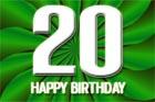Glückwünsche 20 Jahre