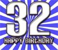 Sprüche zum 32. Geburtstag