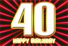 Gl�ckw�nsche zum 40. Geburtstag