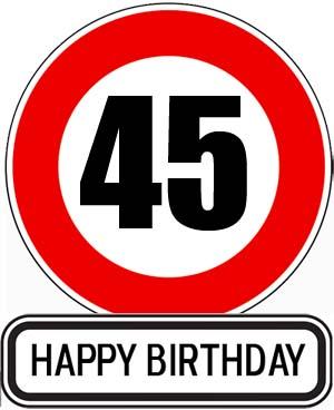 Gl�ckw�nsche zum 45. Geburtstag