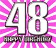 Sprüche zum 48. Geburtstag