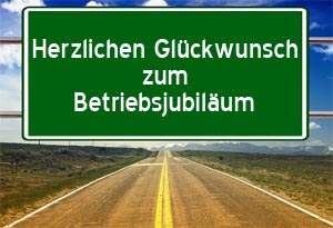 Gl�ckw�nsche zum Betriebsjubil�um