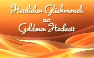 Gl�ckw�nsche zur Goldenen Hochzeit