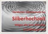 Karte zur Silberhochzeit als Word Vorlage