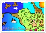 Kommunionskarte mit Bibelmotiv für Kinder