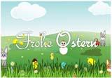 Osterkarte f�r Kinder zum Ausdrucken