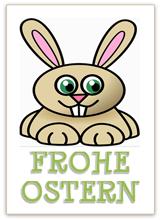 Lustige Karte zu Ostern