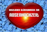 Vorlage für eine Rosenhochzeitskarte zum Ausdrucken